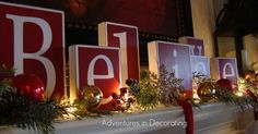 christmas on my mind, christmas decorations, fireplaces mantels, seasonal holiday decor, I ll have a find a spot for our Believe blocks again this year Hmmmmm