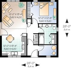 First Floor Plan of Cabin   Cape Cod   House Plan 65386  modify with mud room at right of entry, move closet to widen hallway