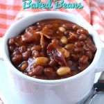 These crockpot bbq brown sugar baked beans are rich, tangy and just the right consistency. So easy to make and so incredibly flavorful.