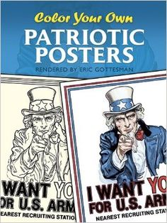 dover coloring book color your own patriotic posters - Google Search