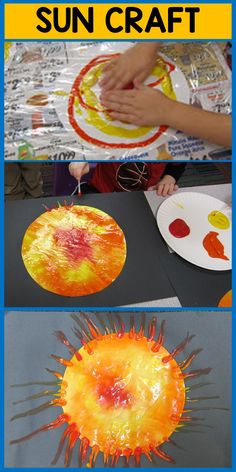 I love this craft for space week from Mrs. Karen's Preschool -a great sensory activity too! Space Theme Preschool, Space Activities For Kids, Preschool Crafts, Outer Space Crafts For Kids, Art For Kids, Planets Activities, Preschool Activities, Daycare Crafts, Toddler Crafts