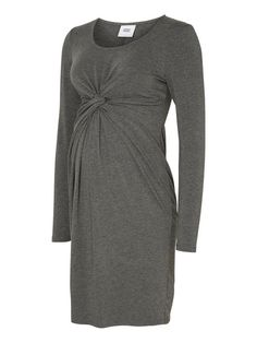 Light grey maternity dress that style your bump the best way. Wear together with pantyhose!