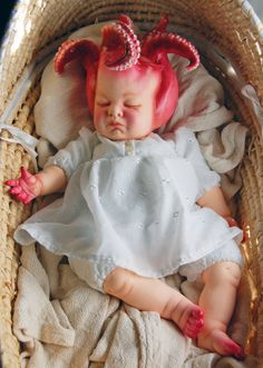 Squid Baby -Etsy listing at https://www.etsy.com/listing/228955074/ooak-squid-monster-baby-art-doll