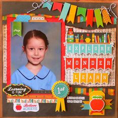 Scrapbooker's Paradise http://www.scrapbookersparadise.com coming in Feb from Kaiser Class act- layout- adriana Bolzon