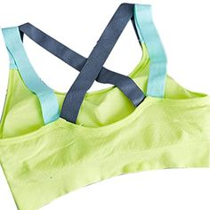 33fdcda9b6944 KOROWA Women Yoga Top Girl Sports Bra Running Gym Fitness Stretch Padded  Wirefree green XL