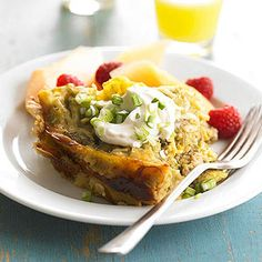 Chile Verde Breakfast Lasagna