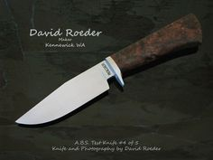 """4 1/4"""" 5160 carbon steel hunter. Stabilized Spalted Koa handle, stainless guard.  This is a remake for my #4 J.S. test knife."""