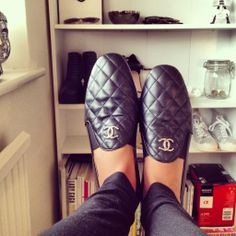 Chanel Quilted Loafers