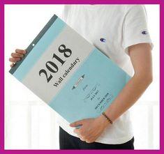 Creative Large Calendar Wall calendar Planner 2018 Agenda Planner Organizer Calendario Daily Table Planner 2017.7~2018.12