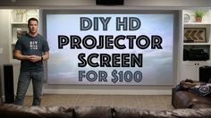 Projector screens can be pretty pricey but they bring your home theater to the next level. Instead of spending a bunch of cash, this YouTu . Home Theater Screens, Home Theater Setup, Home Theater Seating, Home Theater Projectors, Home Theater Design, Home Theatre, Outdoor Theater, Movie Theater Rooms, Home Cinema Room