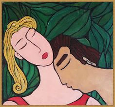 You Will Love Our Lovely Designs :): Acrylic Colour Painting - Sleeping Lovers