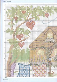 CURIOSA CORUJA: Gráfico Ponto Cruz - A casa é onde o coração está
