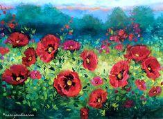 Abundance Poppies, 30X40, oil www.nancymedina.com