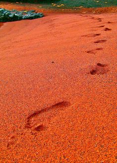 Kaihalulu – also known as Red Sand Beach. This would be a nice addition to my beach sand collection.