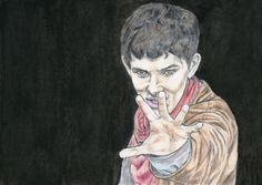 Colin Morgan as Merlin by Vanessafari - #ColinMorgan in the #BBCMerlin series, by #Vanessafari. More drawings at vanessafari.com