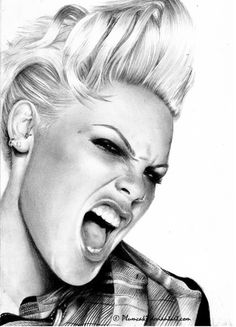 alicia moore 7 Words of wisdom from PINK on her birthday photos) Alicia Moore, Beth Moore, Culture Pop, Desenho Tattoo, Billie Holiday, Celebrity Portraits, Celebrity Drawings, Pop Punk, Girl Crushes