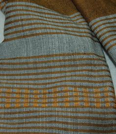 Men's trendy grey and copper solid and striped combination scarf made of 100% handwoven Ethiopian cotton by Ethiostylenet