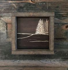 Engraved Wood, Primitive Home Decor, Rustic, Wall Art, Shelf, Mantle Decor, Thanksgiving, Fall, Autumn, Brown, Tree, Minimalist, Cabin, Camp