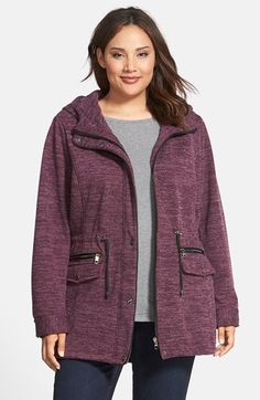 Steve Madden Sweater Knit Anorak (Plus Size) available at #Nordstrom