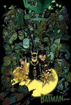 Li'l Batman (Batman Kids) Commission by Juvaun Kirby colored !