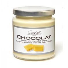 Crema de chocolate blanco BELGA, de elaboración artesanal. Si la probáis... estáis perdidos! Genial como relleno o cobertura de vuestros postres, o tibia sobre una bola de helado... mmm...