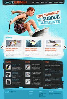 blue grunge web design