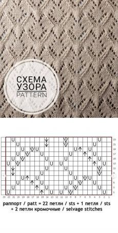 Palm-tree-stitch with chart & Maria Harmjanz Lace Knitting Stitches, Lace Knitting Patterns, Baby Hats Knitting, Knitting Charts, Easy Knitting, Stitch Patterns, Latex Fashion, Steampunk Fashion, Gothic Fashion