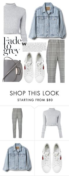 """""""Fade to Grey"""" by ayiarundhati ❤ liked on Polyvore featuring Alexander Wang, Faith Connexion, Gap, Marc Jacobs, CÉLINE, jacket and smallbag"""