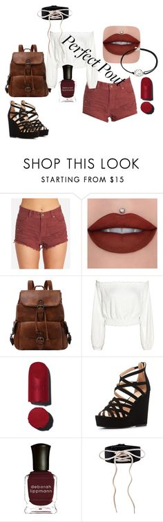 """perfect pout"" by ava-r-johnson on Polyvore featuring Billabong, Charlotte Russe, Deborah Lippmann and Alex and Ani"