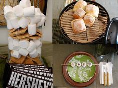 Camping Dinner Party Details / Have a camp theme BBQ get together this summer :)