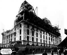 """""""From our archives we found this amazing image of the construction of The Ritz in 1906."""""""