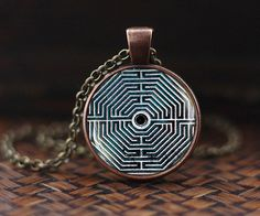 Labyrinth Necklace, Labyrinth Pendant, Sacred Geometry necklace, Spiritual Jewelry, Inspirational Jewelry, Metaphysical Spiritual Pendant by AlexmosDesign on Etsy https://www.etsy.com/listing/454923614/labyrinth-necklace-labyrinth-pendant