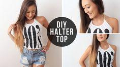 DIY: Halter Top From T-Shirt   LaurDIY