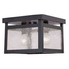 Milford Bronze Two Light Ceiling Mount Livex Flush Mount Flush & Semi Flush Lighting Ceili