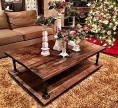 Double Tiered Iron Piping Coffee Table  by ashlierebeccas on Etsy