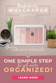 Productivity Wallpaper Templates - These desktop organizer wallpapers make it easy for you to set up your desktop and arrange it in th - Organization Quotes, Desktop Organization, Business Organization, Desktop Organizer Wallpaper, Finance Organization, Wallpaper Desktop, Organizing, Make Money Online, How To Make Money