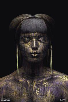 "Saatchi Art Artist: Michael Rosner; Airbrush Painting ""Queen Midas"""