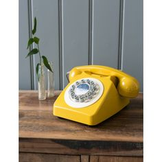 Retro Telephone - English Mustard