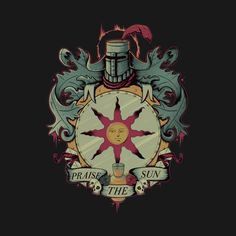 CREST OF SOLAIRE T-Shirt - Dark Souls T-Shirt is $11 today at TeeFury!
