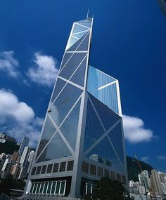 The Bank of China Tower in Hong Kong by I. M. Pei
