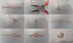 ワイヤーで作るハートのイヤーカフ|自分でできるもん!