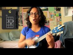 Ukulele TUTORIAL | 10 Songs 4 Chords - This chic is too funny!  She sounds like me a song I can't remember and band named something or other...LOL
