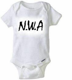 N.W.A Baby Onesie / Gangsta Rap Eazy E  Dr. Dre Ice Cube For Sale on Etsy Babies Motherhood Pregnant