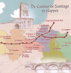 This is a possible route for my own Christian pilgrimage to Santiago, the shrine of Saint James the Apostle of Christ.