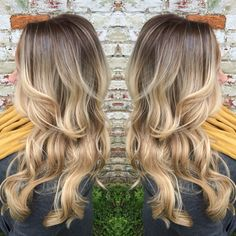 A rooty blonde! She went from blonde highlights to this beautiful Balayage