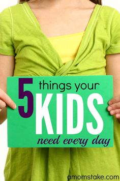 We all know our kids should brush their teeth and take a bath every day. These are 5 things your kids need every day that will shape their confidence and are simple things you can easily add to your parenting style! My children tell me # 2 is most important! (sponsored)