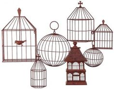 Birdcages Wall Plaque