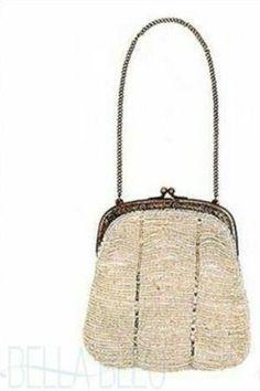 Moyna Vintage Look beaded Bag (Ivory) $175 on Bella Bleu