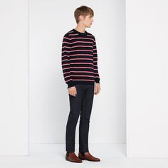 #GiftBuzz - Wool and silk striped long-sleeved Sandro jumper