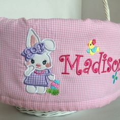 1000 images about personalized easter basket liners on - Custom made easter baskets ...